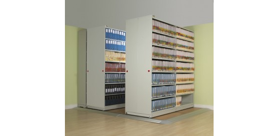 Stormor Systems mobile powaglide shelving unit