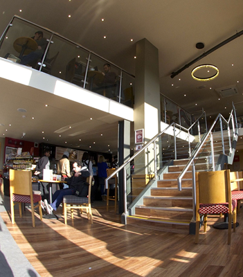 Installation of mezzanine floor in Costa Coffee by Stormor Systems