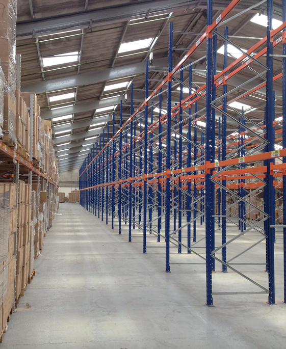 Stormor Systems racking system in a warehouse environment