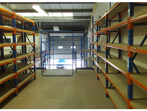 Stormor Systems racking unit in a industrial environment