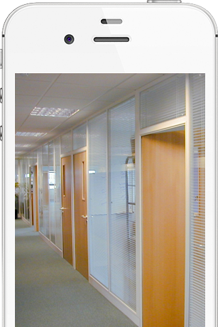 Stormor Systems glass partitioning in an office environment