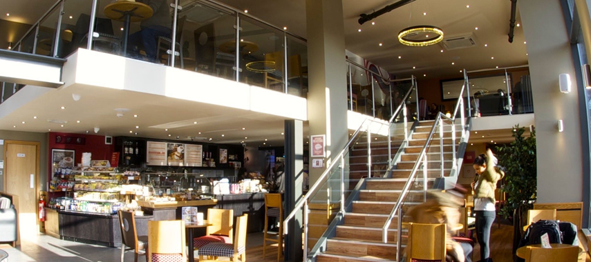 Stormor Systems mezzanine floor install in Costa Coffee