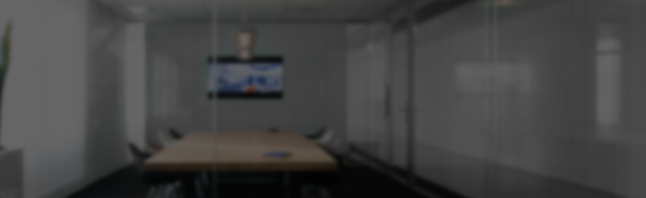Stormor Systems partitioning system to create a meeting room in an office environment